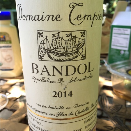 Domaine Tempier Bandol Rouge Mourvedre Blend 2014