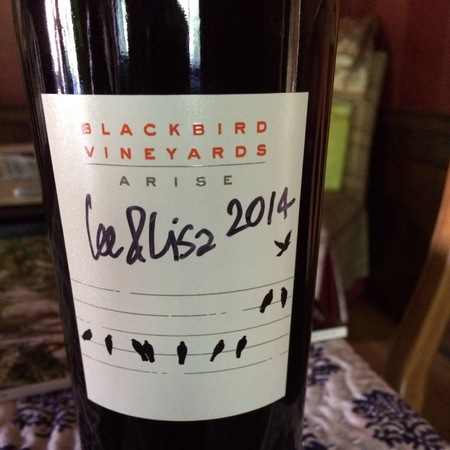 Blackbird Vineyards Arise Proprietary Napa Valley Merlot Blend 2014