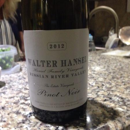 Walter Hansel Winery The Estate Vineyards Pinot Noir 2014