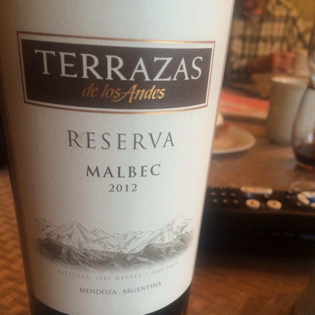 Terrazas De Los Andes Reserva Mendoza Malbec 2015