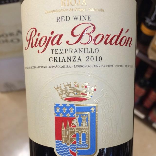 Bordón Crianza Rioja Tempranillo NV