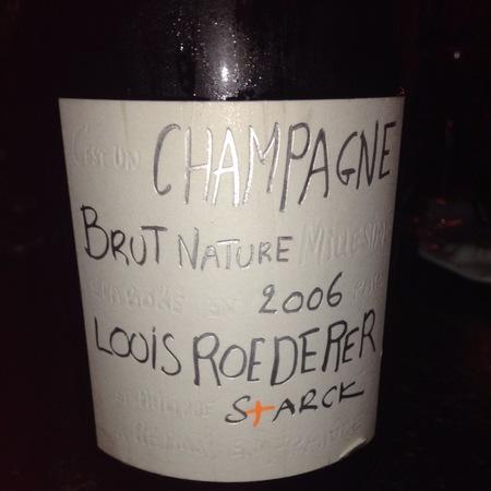 Louis Roederer Starck Brut Nature Champagne Blend 2009