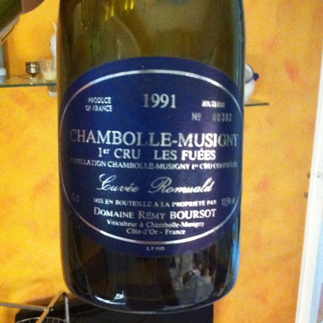 Le Fueés Chambolle-Musigny 1er Cru Pinot Noir 1998