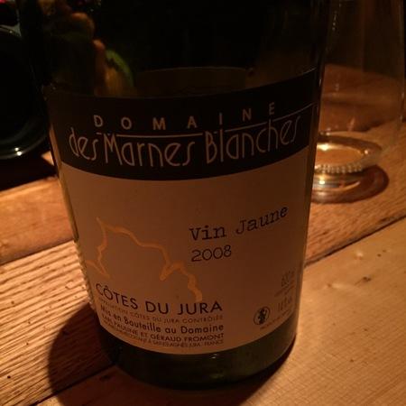Domaines des Marnes Blanches Vin Jaune Côtes du Jura Savagnin 2008 (620ml)
