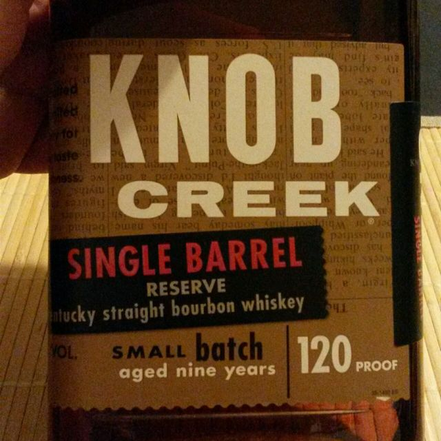 Knob Creek Small Batch Aged 9 Years Single Barrel Reserve Rye Whiskey NV