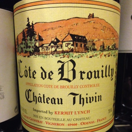 Château Thivin Côte de Brouilly Gamay 2014 (1500ml)