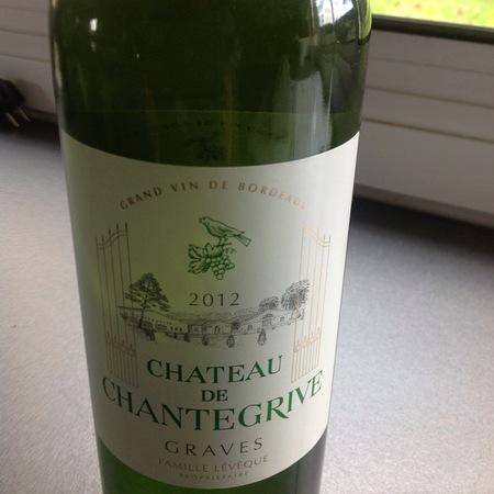 Château de Chantegrive Blanc Graves Sémillon Sauvignon Blanc 2012