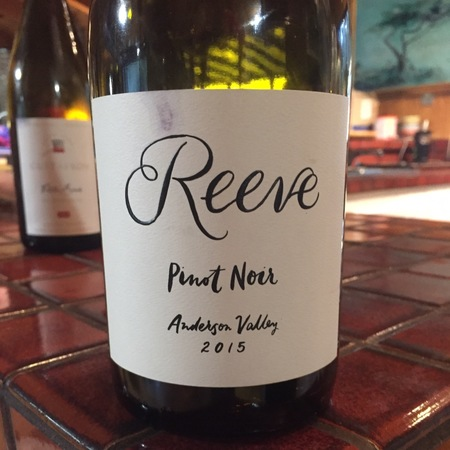 Reeve Wines Anderson Valley Pinot Noir  2015