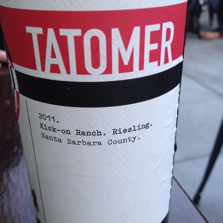 Tatomer Kick-On Ranch Riesling 2014