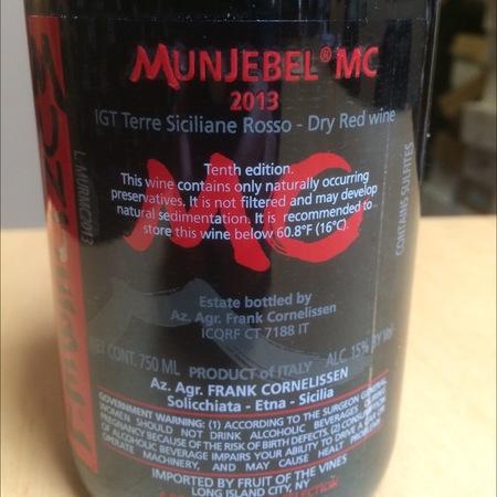 Frank Cornelissen Munjebel MC (Monte Colla) Nerello Mascalese 2014