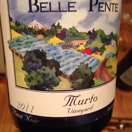 Belle Pente Murto Vineyard Pinot Noir 2011