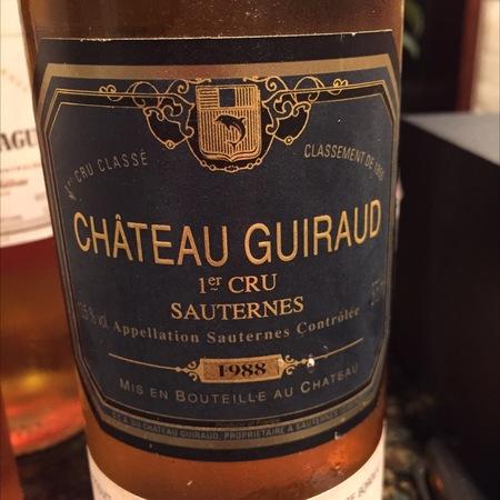 Château Guiraud Sauternes Sémillon-Sauvignon Blanc Blend 1988
