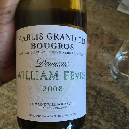 Domaine William Fèvre Bougros Chablis Grand Cru Chardonnay 2008