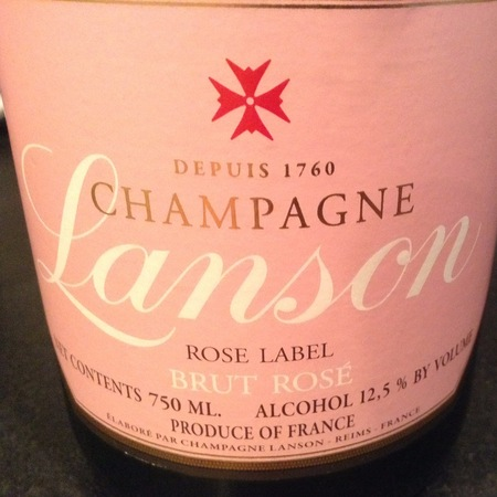 Lanson Rose Label Brut Rosé Champagne Blend NV