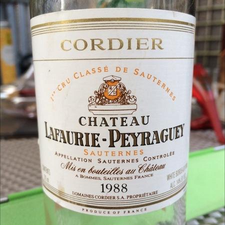 Château Lafaurie-Peyraguey Sauternes Sémillon-Sauvignon Blanc Blend 1988