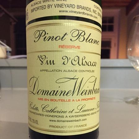 Domaine Weinbach Réserve Alsace Pinot Blanc 2015