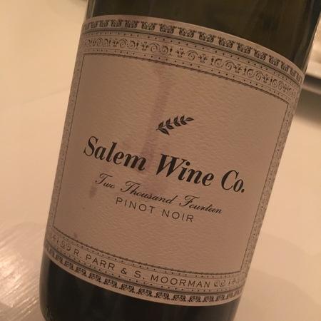 R. Parr & S Moorman Salem Wine Co. Pinot Noir 2014