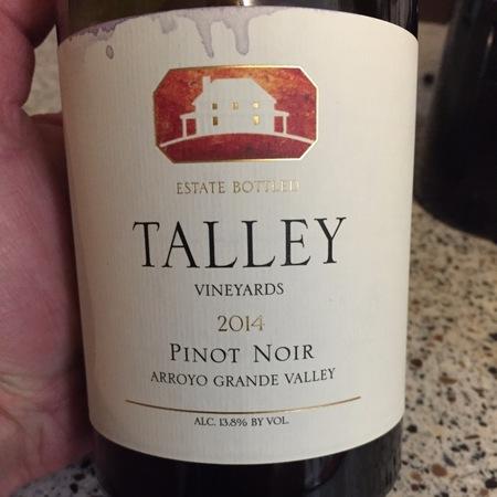 Talley Vineyards Estate Bottled Arroyo Grande Valley Pinot Noir 2014