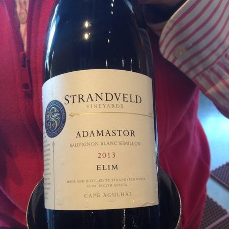 Strandveld Vineyards Elim Adamastor Cape Agulhas Sémillon-Sauvignon Blanc Blend 2013
