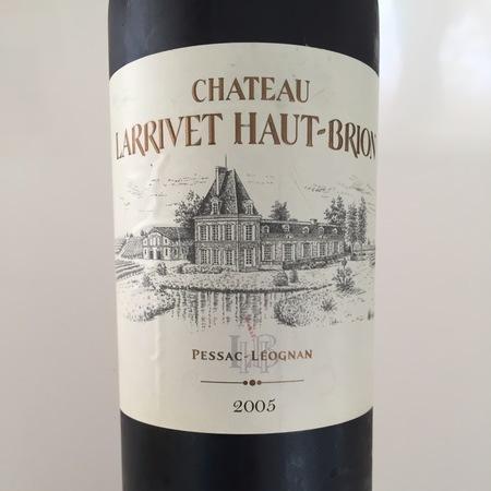 Château Larrivet Haut-Brion Pessac-Léognan Red Bordeaux Blend 2015