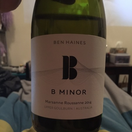 Ben Haines Wine Co B Minor Upper Goulburn Marsanne Roussanne 2016
