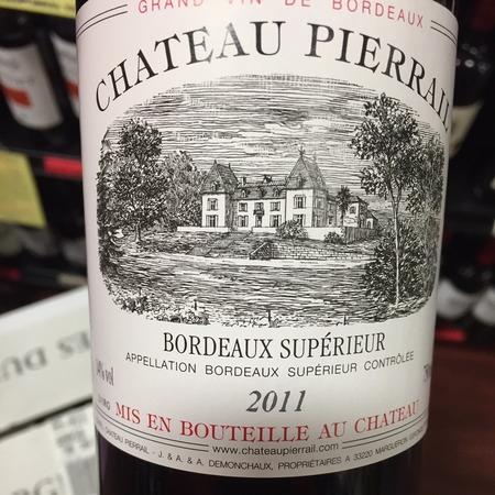 Château Pierrail Bordeaux Supérieur Red Bordeaux Blend 2014