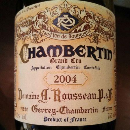 Domaine Armand Rousseau  Chambertin Grand Cru Pinot Noir 2004