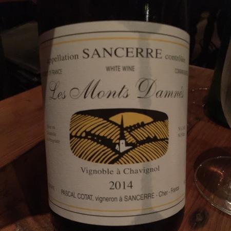 Domaine Pascal Cotat Les Monts Damnés Sancerre Sauvignon Blanc 2014