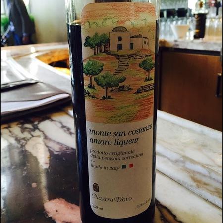 Nastro d'Oro Monte San Costanzo Amaro Liqueur Penisola Sorrentina Red Blend NV
