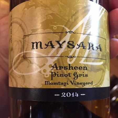 Maysara Winery Arsheen Momtazi Vineyard Pinot Gris 2015