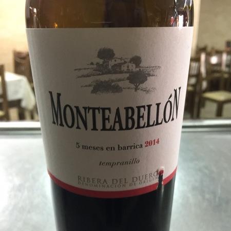 Monteabellón Ribera del Duero Tempranillo 2014