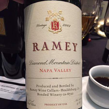 Ramey Wine Cellars Diamond Mountain District Cabernet Sauvignon Blend 2002