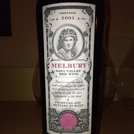 Bond Melbury Napa Valley Red Bordeaux Blend 2001