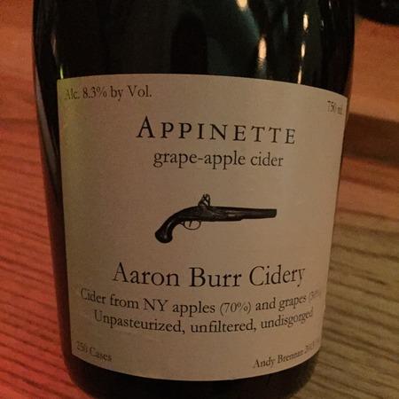 Aaron Burr Cidery Appinette Grape-Apple Cider 2015