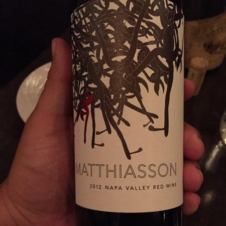 Matthiasson Napa Valley Red Blend 2012