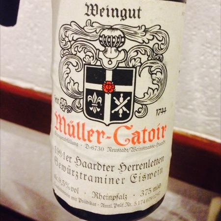 Müller-Catoir Haardter Herrenletten Gewürztraminer Eiswein 1991