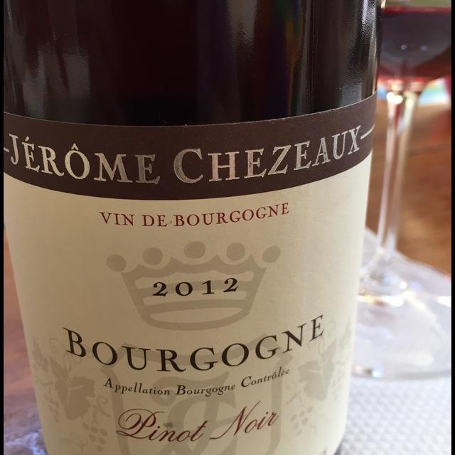Bourgogne Pinot Noir 2012