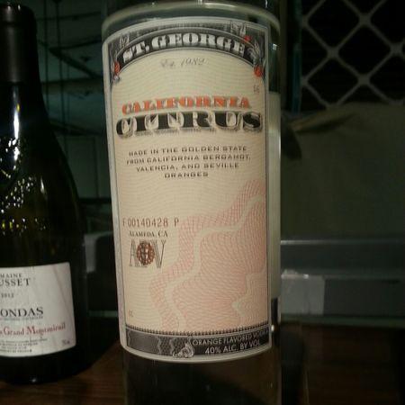 St. George Spirits California Citrus Vodka NV