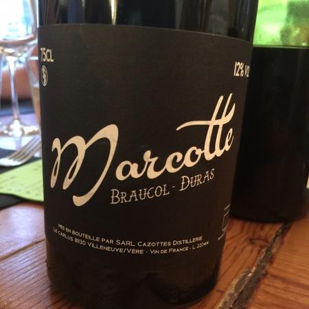 Distillerie Cazottes (Laurent Cazottes) Marcotte Braucol-Duras White Blend 2016