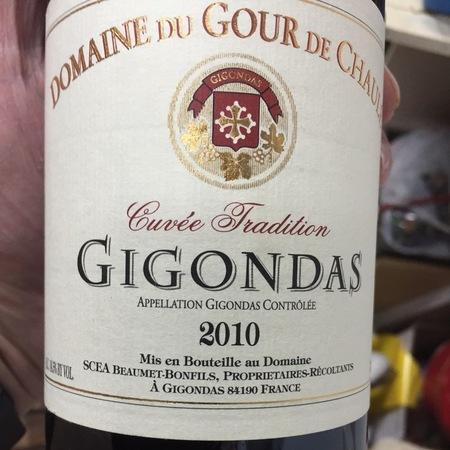 Domaine du Gour de Chaulé Cuvée Tradition Gigondas Grenache 2014