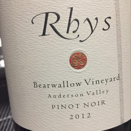 Rhys Vineyards Bearwallow Vineyard Pinot Noir 2012