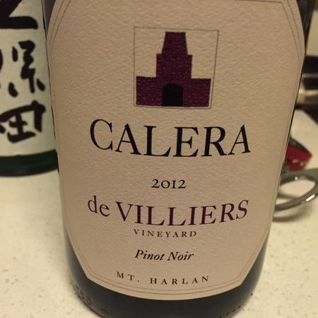 Calera de Villiers Vineyard Pinot Noir 2012