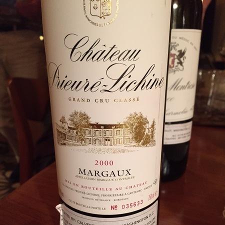 Château Prieuré-Lichine Margaux Red Bordeaux Blend 2000