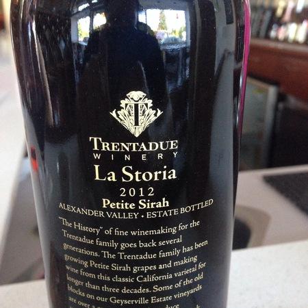 Trentadue Winery La Storia Alexander Valley Petite Sirah 2012