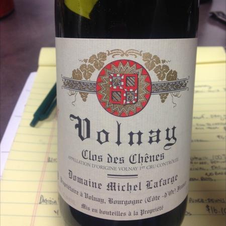 Domaine Michel Lafarge Clos des Chênes Volnay 1er Cru Pinot Noir 2011