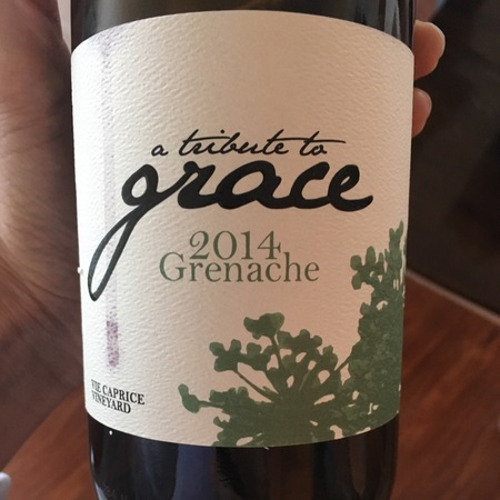 A Tribute to Grace Wines Vie Caprice Vineyard Grenache 2014