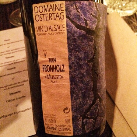 Domaine Ostertag Fronholz Alsace Muscat 2004