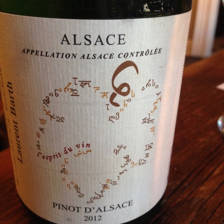 Domaine Laurent Barth Pinot d'Alsace 2015