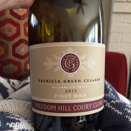 Patricia Green Cellars Freedom Hill Coury Clone Pinot Noir 2014