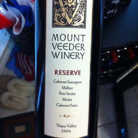 Mount Veeder Winery Reserve Mt. Vedeer Cabernet Sauvignon Blend 2000